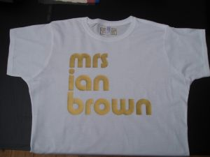 WOMENS THE STONE ROSES `MRS IAN BROWN` T-SHIRT